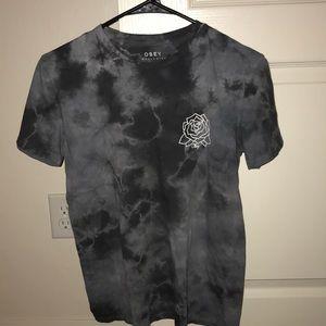 Obey T-Shirt in Gray Tie Dye